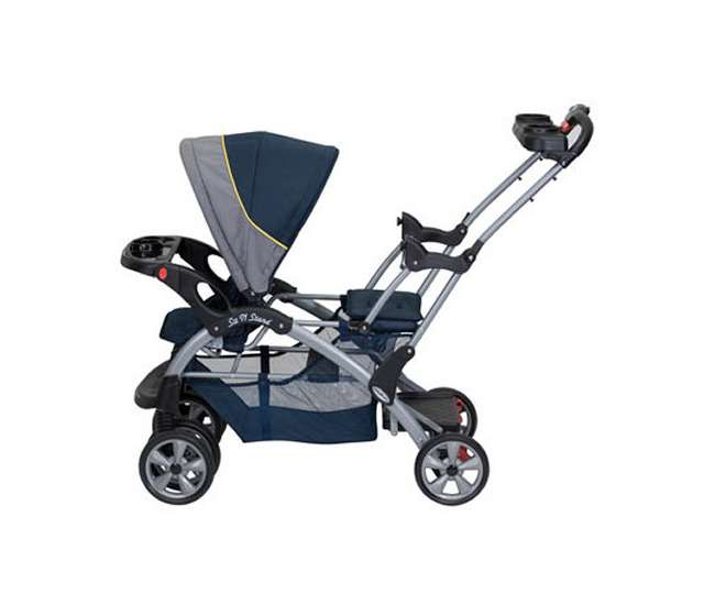 SS76553 + CS31553Baby Trend Sit N Stand Double Baby Stroller & Car Seat Travel System - Riveria