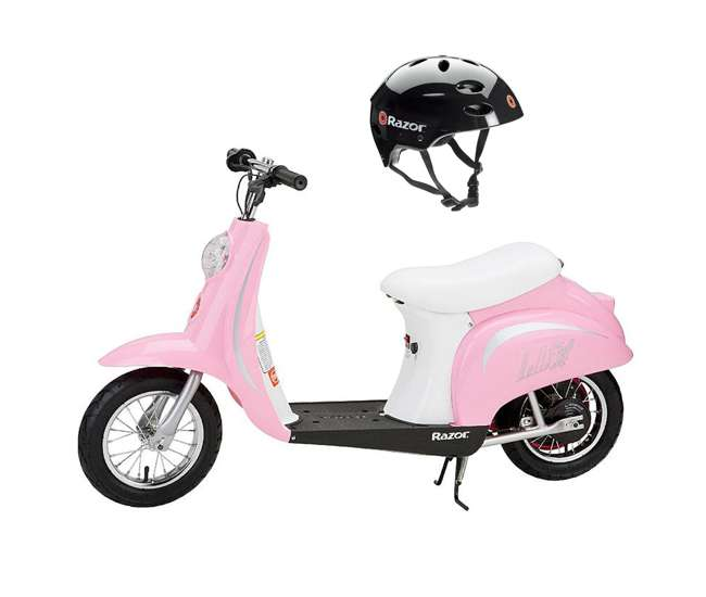 15130610 Razor Pocket Mod Miniature Euro 24V 250W Kids Motor Powered Scooter & Helmet