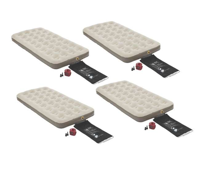 4 Coleman Single High Quickbed Twin Air Mattresses w 4D