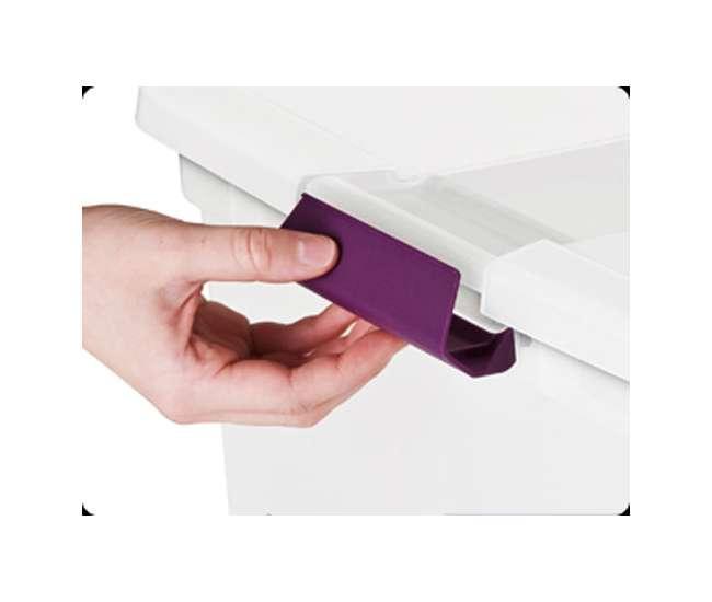 6 x 17631706 Sterilite 27-Quart ClearView Latch Box (6 Pack) | 17571706