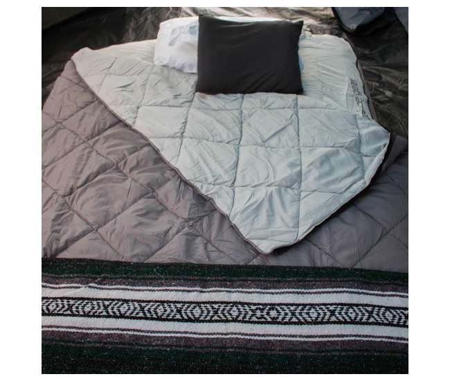 TGT-BEDKIT-2 Tahoe Gear Queen Size Quilted Fitted Sheet Cover & Blanket for Air Mattresses