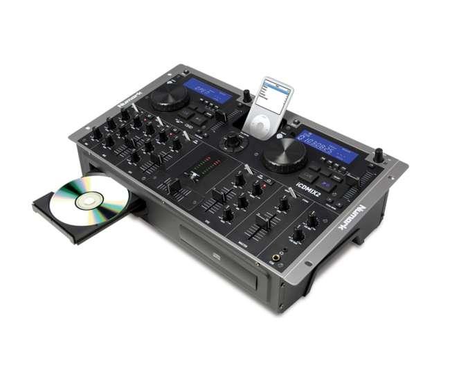 iCD-MIX2Numark iCDMIX2 Dual CD & iPod Dock DJ 3 Ch Mixer System