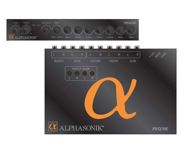 PEQ70E Alphasonik PEQ70E 7 Band in Dash Parametric Equalizer