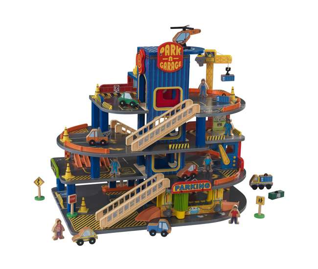 KDK-63600 KidKraft Deluxe Wooden Car Garage Kids Playset