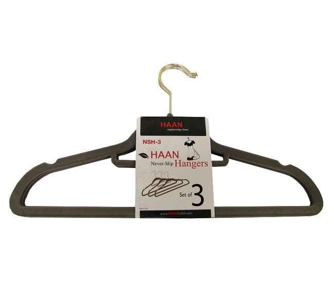 24 x Hangers-3pkSlim Hangers by Haan - Flocked Non Slip Space Saving Hangers (72 Pack)