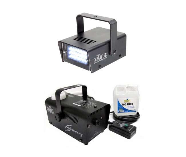 H700 + MINISTROBE-LED Chauvet CH-730 LED Mini Strobe Light + H700 Fog Smoke Machine