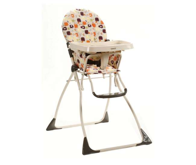 03354ALK Cosco Flat Fold High Chair (Fruity Jungle)