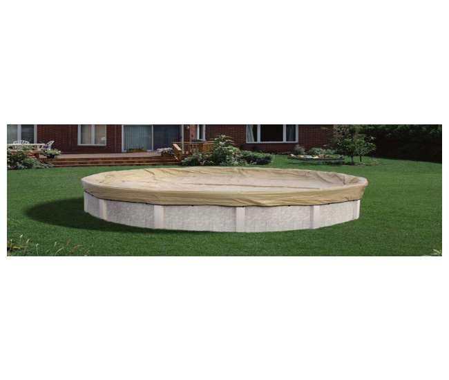 AK1530OV4 Armor Kote 15x30 Tan Winter Oval Above Ground Swimming Pool Cover