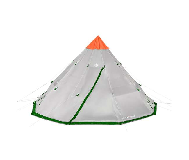TGT-BIGHORNXL-12-B-U-A Tahoe Gear Bighorn XL 18 x 18 Feet 12 Person Cone Shape Camping Tent (Open Box)