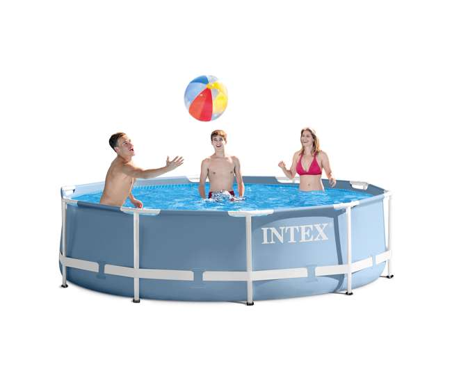 Intex 10 feet x 30 inches prism frame pool 28700eh - Intex prism frame ...
