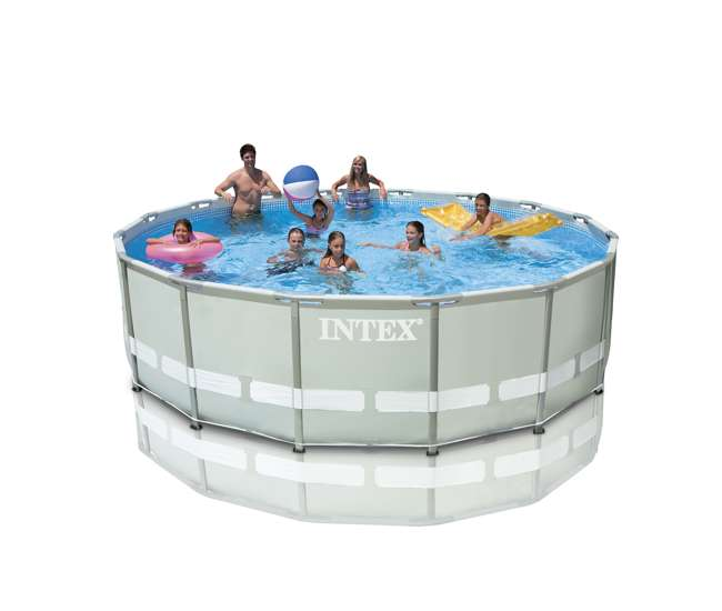 Intex 16 39 x 48 ultra frame swimming pool set w 1500 gph for Intex pool handler