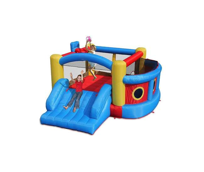Magic Time Fort Sport Inflatable Bouncer and Slide 4-in-1 Fun House