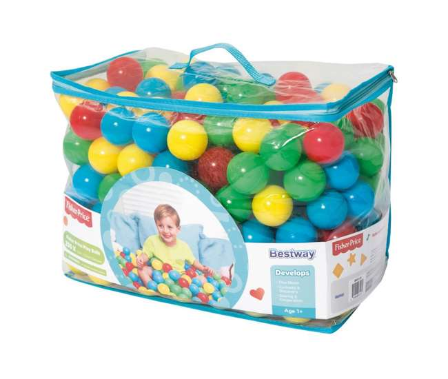 93513E-BW-U-B Fisher-Price 250 Count 2.5 Inch Multicolored Plastic Toy Play Balls (Used)
