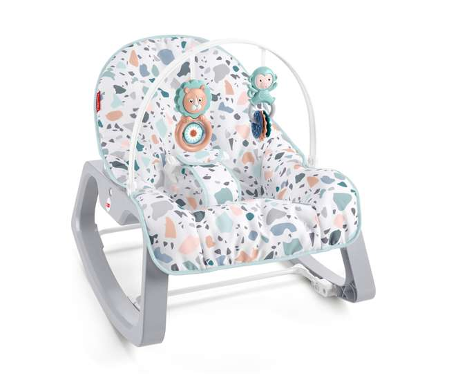 GKH64 Fisher Price GKH64 Infant to Toddler Portable Baby Seat Rocker, Pacific Pebble
