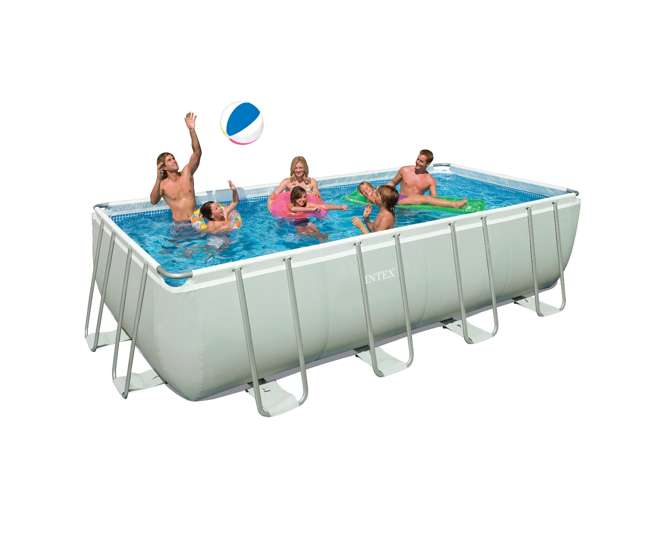 Intex 18 39 X 9 39 X 52 Ultra Frame Rectangular Pool Pump 28351eh