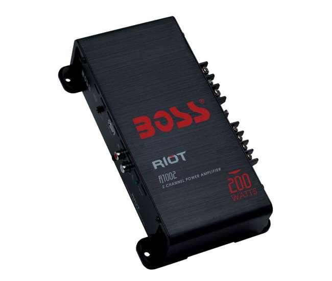 R1002 + KIT2 Boss R1002 200W 2-Channel Riot Power Amplifier + 8 Gauge Amp Kit