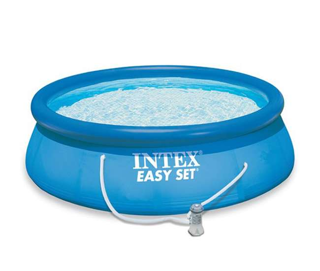 intex 15 39 x 48 easy set swimming pool kit w 1000 gph. Black Bedroom Furniture Sets. Home Design Ideas