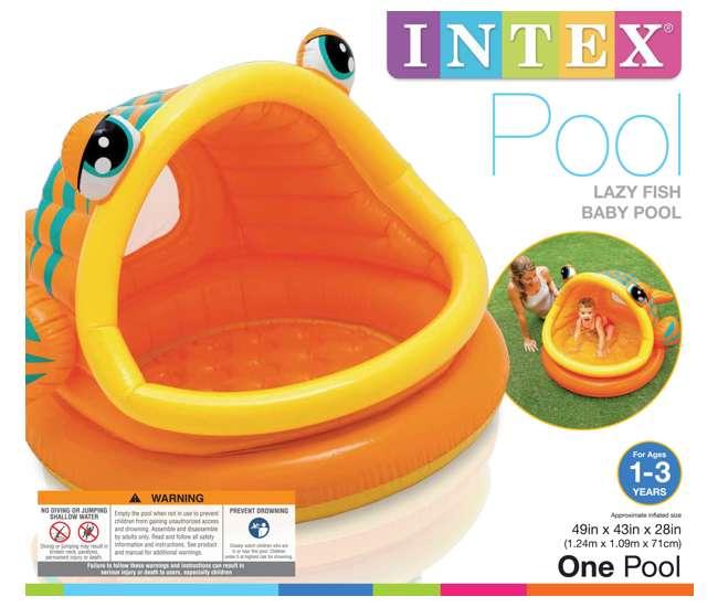 Intex lazy fish shade baby pool 57109ep for Intex pool koi pond