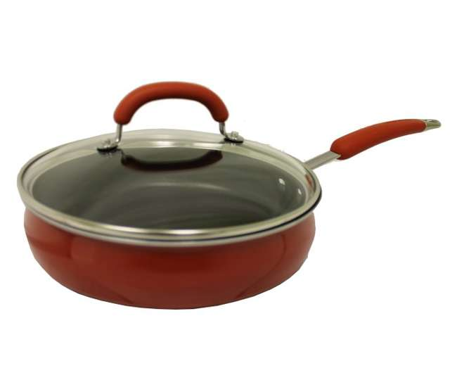 10505-REDRachael Ray 10-Piece Porcelain Enamel Cookware Set - Red