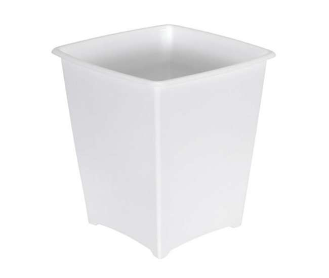Rubbermaid 8 Quart Bedroom Bathroom And Office Wastebasket Trash Can White Fg238200wht