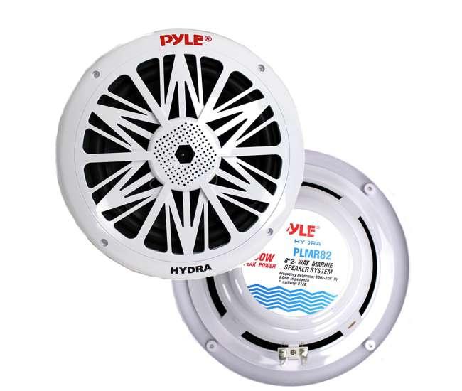 PLMR82 Pyle PLMR82 8-Inch 300 Watt Waterproof Marine Speakers (Pair)