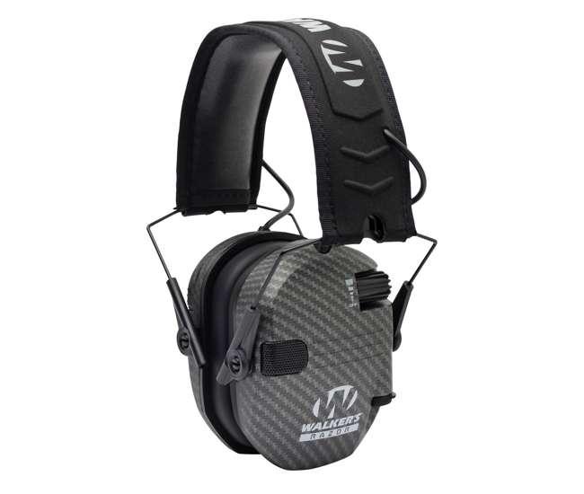 GWP-RSEM-CARB Walker's Razor Slim Shooter Carbon Electronic Folding Hearing Protection Earmuff