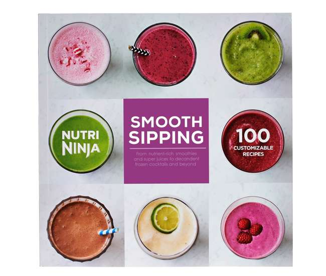 Ninja Smooth Sipping 100 Recipe Book For Bl480 Bl490 Series Auto Iq Blenders