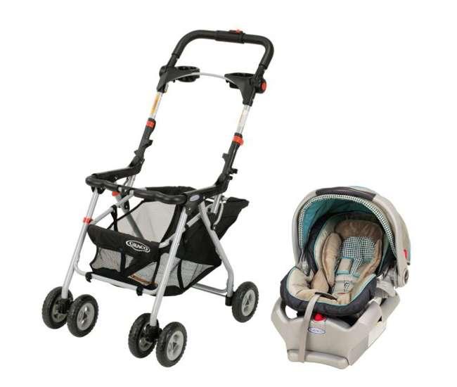 Graco Snugrider Stroller Frame Snugride 35 Infant Car Seat Combo