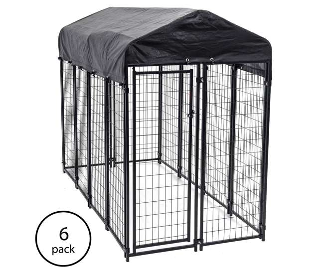 Lucky Dog Uptown Welded Wire Kennel Heavy Duty Dog Cage 6 Pack 6 X Cl 60548