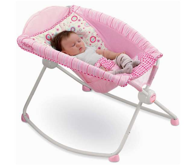 Fisher Price Baby Rock N Play Sleeper Rocker Pink Giraffe Bbk17