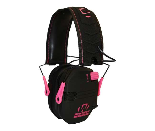 GWP-RSEM-PNK Walker's Razor Slim Shooter Pink Electronic Folding Hearing Protection Earmuffs