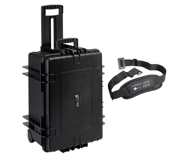B W 70 9l Plastic Waterproof Case W Wheels Rpd Insert Shoulder Strap Black 6800 B Rpd Cs 3000