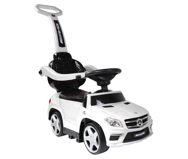 4 in 1 Mercedes Push Car White Best Ride On Cars Toddler 4-in-1 Mercedes Push Car Stroller w/ LED Lights, White