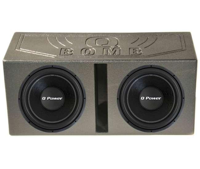 QPower QPF15 15 2200W Deluxe Series Dual Voice Coil Car Audio Power Subwoofer