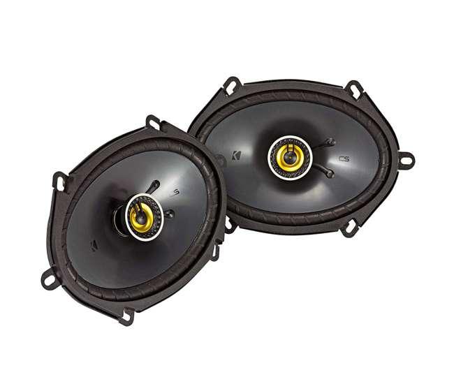 46CSC684 Kicker CS Series CSC68 6 x 8 Inch Car Audio System Speaker, Yellow (2 Pack)