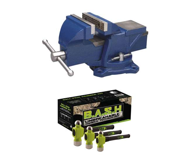 """Wilton 11104 4/"""" Jaw Bench Vise with Swivel Base"""