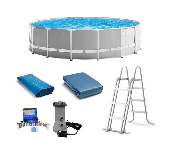 Intex 15 Ft X 48 In Frame Pool Set W Cover Taylor Chlorine Ph Alkaline Test Kit 26725eh K2006