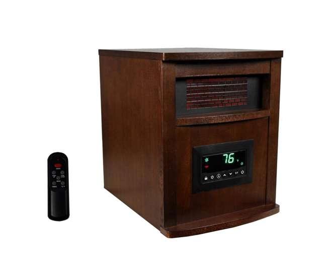 LS-1000X-6W-IN Lifesmart 6 Element 1500W Portable Electric Infrared Quartz Space Heater, Indoor