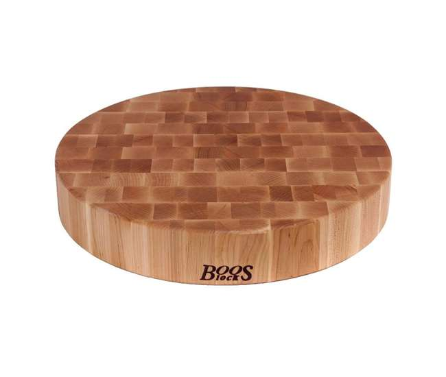 Maple Wood Grain John Boos Classic Collection 18 Inch Wood Round Chopping Block