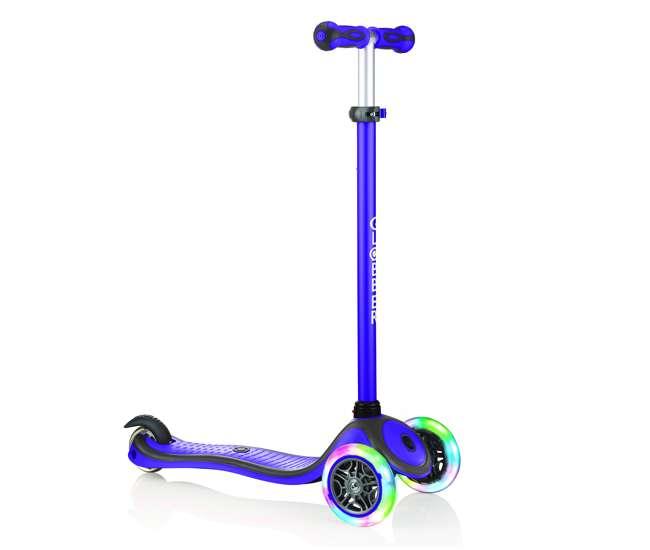 Globber 442-103 V2 3-Wheel Kids Kick Scooter with LED Light Up Wheels Purple