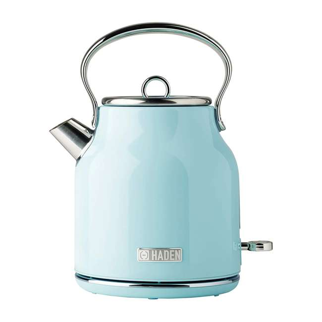 75004-HD Haden Heritage 1.7 Liter Stainless Steel Body Retro Electric Kettle, Turquoise