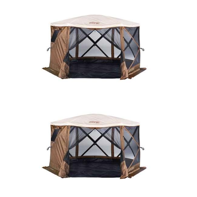 CLAM-ESSC-12874 Clam Sky Camper Portable Gazebo Canopy (2 Pack)