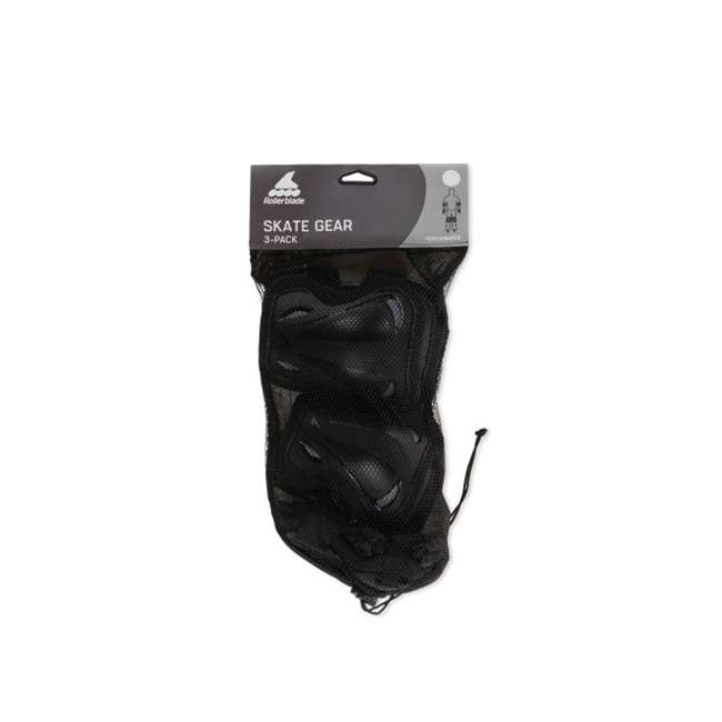 069P0100100-M Rollerblade Protective Skate Gear w/ Wristguards, Knee Pads, & Elbow Pads, M 4