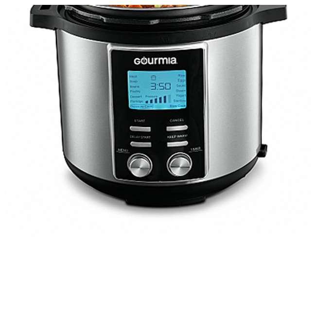 GPC655 Gourmia ExpressPot 6 Quart Stainless Steel 14 Program Pressure Cooker, Black 4