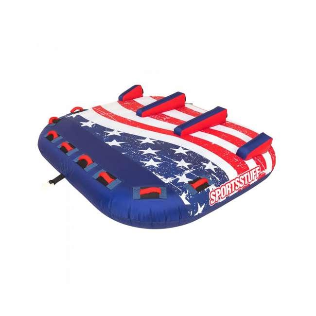 53-4313 SportsStuff Stars & Stripes 3 Rider Towable Inflatable Tube 2