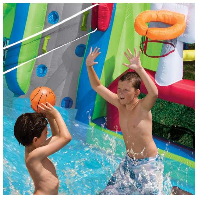 Pool Water Splash: Banzai Inflatable Aqua Sports Splash Pool And Slide Water
