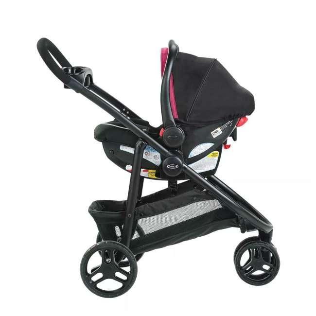 2081084 Graco Modes 3 Lite DLX Baby Stroller & Infant Car Seat Travel System, Arbis Pink 6