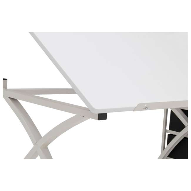 STDN-38016 SD STDN-38016 Comet 2 Piece Craft Table with Adjustable Top and Stool, White 8