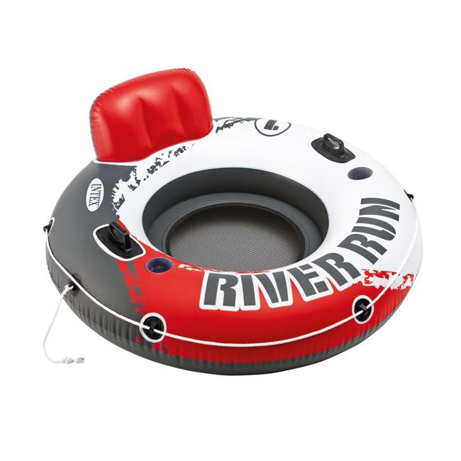 "6 x 56825EP-U-A Intex River Run 1 53"" Water Tube Lake Pool Ocean Raft, Red  (Open Box) (6 Pack)"