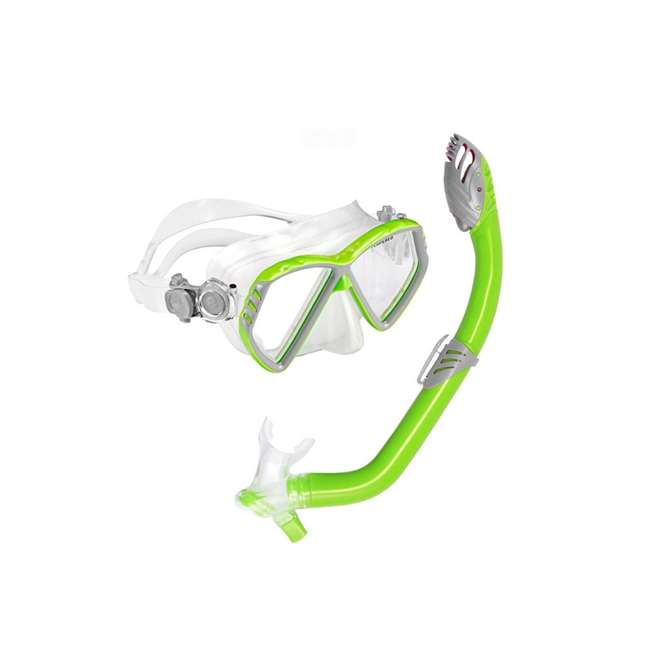 SC332O3110S U.S. Divers Junior Regal Mask and Laguna Snorkel Set, Green